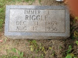 Immer Riggle Tombstone